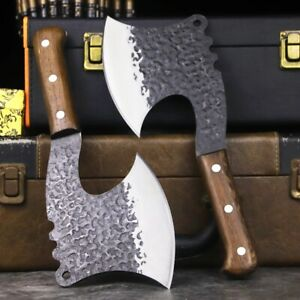 Hand Forged Axe AX Hatchet High Carbon Steel Tactical Outdoor Hunting Vintage