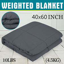 "Weighted Blanket 10lbs 40""x60"" Non-toxic Glass Beads 100% Breathable Cotton"
