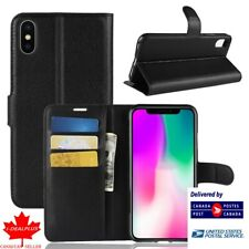 For Iphone X/XS Flip Slots Wallet Soft Case/Cover/Card Holder Kickstand Pouch