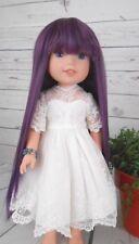 "8-9"" Custom Doll Wig fit bjd, Dolfie-Luts-Wellie Wisher-LIL SPICED PLUM  bn1"