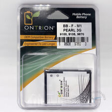 Ontrion 1000mAh Replacement Battery for BlackBerry Pearl 3G 9100/9105/9670, F-M1