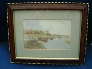 4 Seaside Pictures Framed Glass Mounts Prints From A Watercolour by Ron Brooks