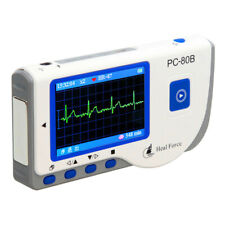 Portable Heal Force PC-80B Easy ECG EKG Heart Monitor Electrocardiogra LCD