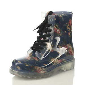 rain shoes Festival Booties Womens Clear Fashion Ladies Rubber Boots US Size 7