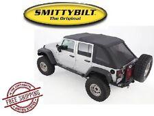 Smittybilt Bowless Combo Top Kit 07-17 Jeep Wrangler JKU 4 Door 9083235K Black