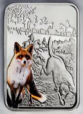 Niue 2012 $1 Art of Hunting - Fox Hunting 28.28g Silver Proof Coin