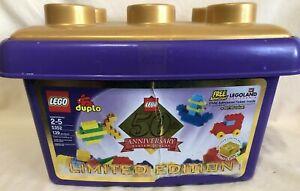 LEGO Duplo Building Set 5352 - 50th Anniversary LE w/Purple Tub & Gold Bricks