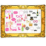 20pc Hen Wedding Party Photo Booth Selfie Props Gold inflatable frame Night