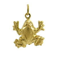 9ct Hollow Gold Frog Charm