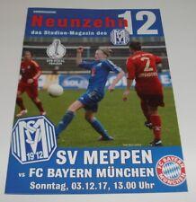 Programm SV Meppen - FC Bayern München 03.12.2017 - DFB-Pokal Frauen