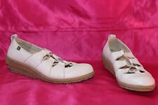 EL NATURA LISTA white genuine leather lace up shoes size 4