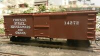 Roundhouse MDC HO Old Time 36' Boxcar, Omaha Road, Upgraded, Exc