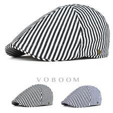 Casquette de lierre à rayures en coton béret pour hommes chapeau de golf