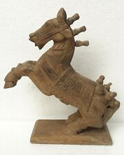 Vintage old Collectible Wood Horse Unique Design Hand Carved Statue Decor Art