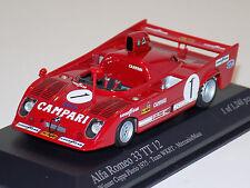 1/43 Minichamps Alfa Romeo 33 TT 12 car #1 Winner Coppa Florio 1975 Merzario