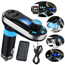 US Universal Car Bluetooth FM Transmitter MP3 Radio Player USB Charger & AUX Set