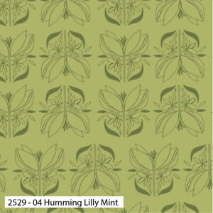 HALF METRE -The craft cotton co-100% cotton Spring Flower green fabric..