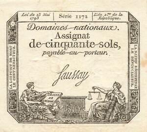 France 50 Sols 1792 P-A56 XF+