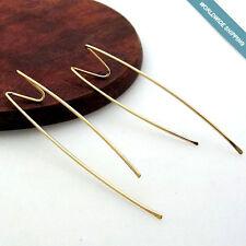 Double Piercing Earrings - Gold Chevron Earrings - Two Hole Earrings Lightweight