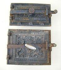 Alte Ofenklappe und Ascheklappe 2 teilig Ofentür,Ofen antik