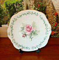 Duchess Bone China PInk Roses Cake Plate