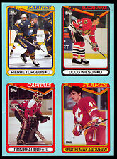 1990 TOPPS Sergei Makarov Pierre Turgeon NM BOX BOTTOM 4 CARD UNCUT PANEL