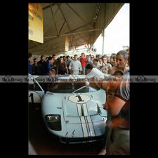 #pha.031240 Photo FORD GT40 (KEN MILES DENNY HULME) 24 HEURES MANS 1966 Car Auto