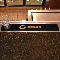 "Chicago Bears 3.25"" x 24"" Bar Drink Mat - Man Cave, Bar, Game Room"
