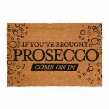 Prosecco Large Funny Coir Rubber Front Door Mat Outdoor Indoor Mats Novelty Matt