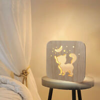 1PC Table Lamp Hollow Wooden Table Lamp LED Light Decorative Lamp for Study Room