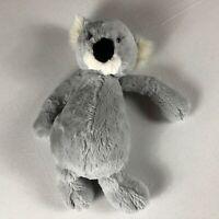 "JellyCat Koala Plush Beans 12"" Stuffed Toy Bashful Teddy Bear Gray White Kids"