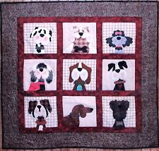 GONE TO THE DOGS APPLIQUE QUILT PATTERN, From The Whole Country Caboodle NEW