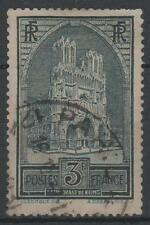 "FRANCE STAMP TIMBRE 259 b "" CATHEDRALE REIMS 3F TYPE III "" OBLITERE A VOIR  M599"
