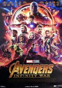 Marvel AVENGERS - INFINITY WAR original A1 Kino Plakat 2018 gerollt !