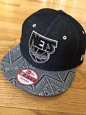 Limited Edition NEW ERA Brooklyn Nets Denim Patterned Snapback