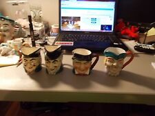 LOT OF 4 JAPAN TOBY STYLE MUG CHARACTERS 3.25-4 INCHES TALL