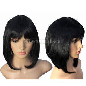 PERRUQUE LUXE BRUNE SEXY ADULTE FEMME WIG CHEVEUX LISSES DéGUISEMENT PERRUCCA