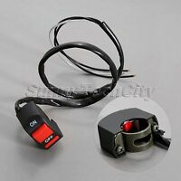 "12V 7/8"" Motorcycle Scooter ATV Handlebar On/Off Kill Button Switch Universal"