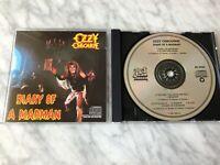 Ozzy Osbourne Diary of a Madman CD EARLY PRESS 1986 Jet ZK 37492 Black Sabbath