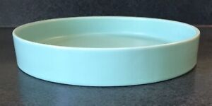 J. A. Bauer Pottery - Low Planter Bowl in Aqua Blue Matte Finish