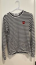 Comme Des Garcons Play Black striped long sleeve (med) Brand new! Never worn!