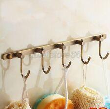 Antique Brass Wall Mounted Bathroom Towel Coat Hooks Robe Hook Hanger qba036