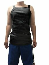 G UNIT Square Cut Ribbed Tank Top Undershirt Wife Beater Mens Cotton Black L