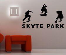 SKATE PARK wall art sticker vinyl BEDROOM KIDS teen