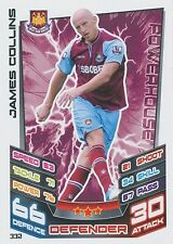 N°332 JAMES COLLIN # WALES WEST HAM TRADING CARD MATCH ATTAX TOPPS 2013