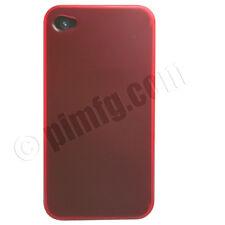 iPhone 4 / 4S TPU Case - Transparent Red (AT&T, Verizon & Sprint)