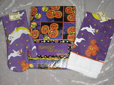 Halloween Pumpkins Bats Tablecloth Oven Mitt Towel NEW!