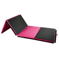 """4'x10'x2"""" Gymnastics Mat Thick Gym Fitness Exercise Pad Yoga Tumbling Rose Red"""
