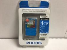 New & Sealed Philips Go Gear 4 GB MP3/Video Player (Blue)