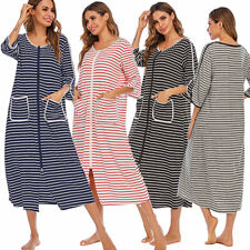 Maternity Nursing Clothes Pregnant Women Breastfeeding Dress Front Zipper Dress
